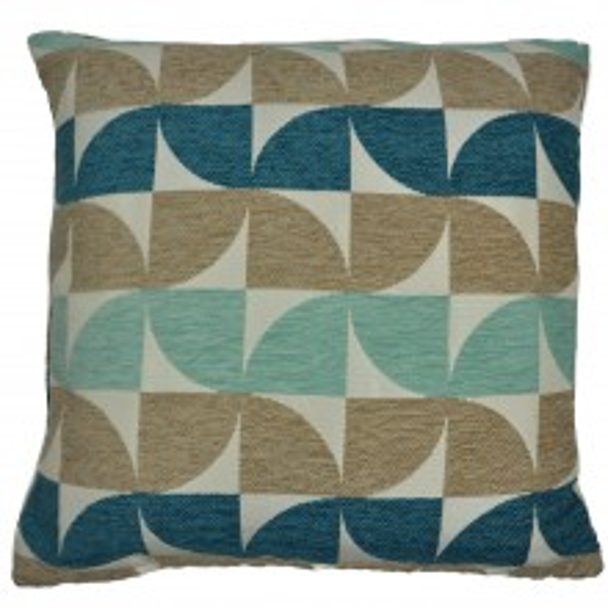 Mason Grey Windmill Cushion, Teal