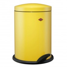 Wesco 13 Litre Pedal Bin, Lemon Yellow