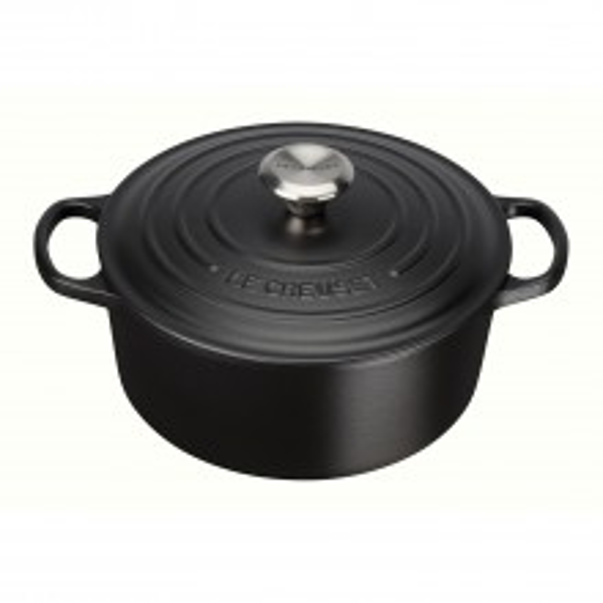 Le Creuset Cast Iron Round Casserole 24cm, Satin Black