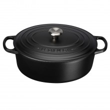 Le Creuset Cast Iron Oval Casserole 27cm, Satin Black