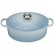 Le Creuset Cast Iron Oval Casserole 29cm, Coastal Blue