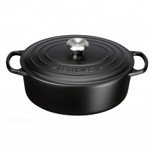 Le Creuset Cast Iron Oval Casserole 29cm, Satin Black