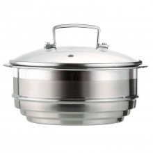 Le Creuset 3-Ply Stainless Steel, Multi Steamer with Glass Lid