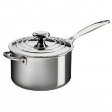 Le Creuset Signature Saucepan With Lid, 20cm, Stainless Steel