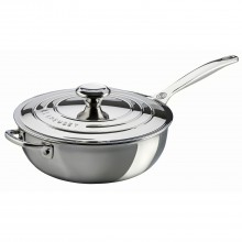 Le Creuset Signature Saucepan With Lid, 24cm, Stainless Steel