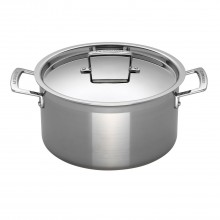 Le Creuset Signature Casserole With Lid, 24cm, Stainless Steel