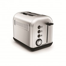Morphy Richards Accents 2 Slice Toaster, Brushed