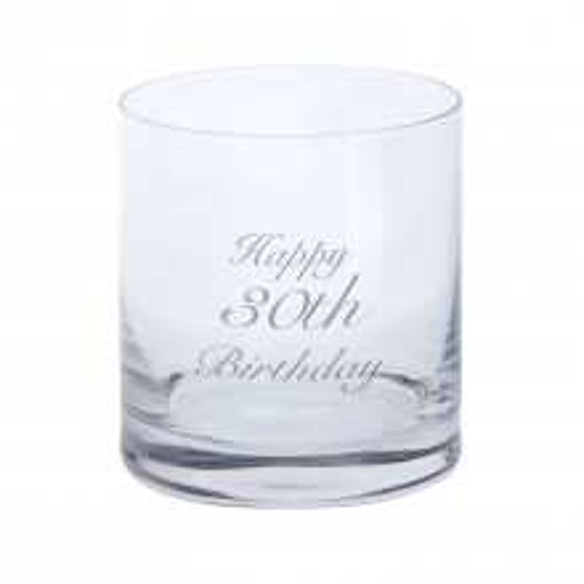 Dartington Crystal Tumbler - Happy 30th Birthday, Clear