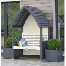 AFK Cottage Arbour, Charcoal/Cream