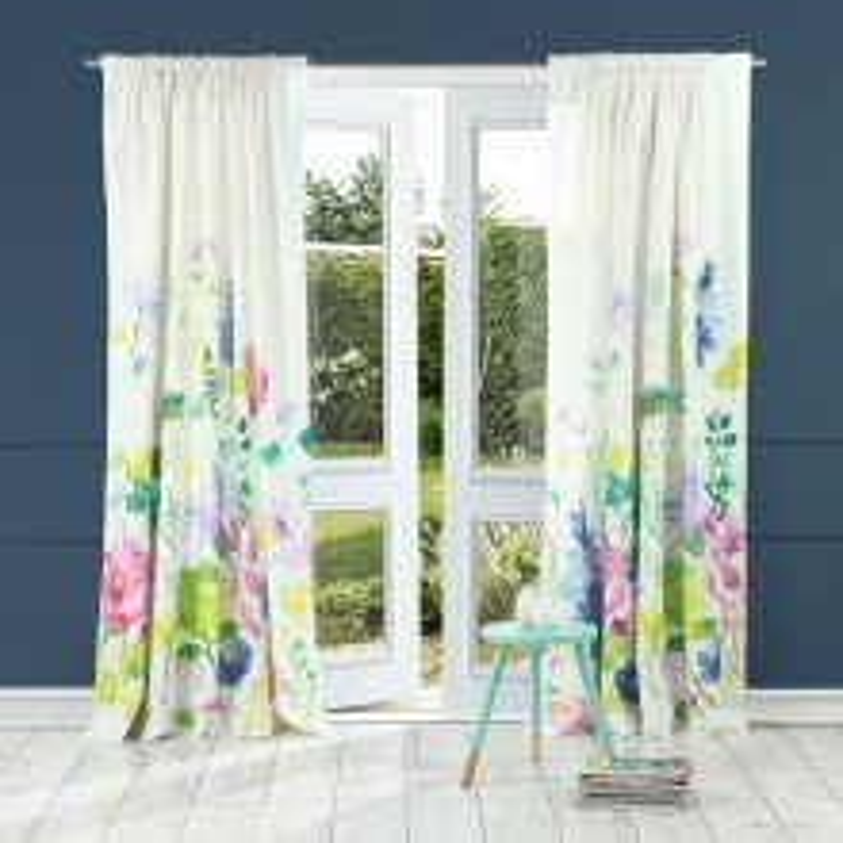 Bluebellgray Tetbury Meadow Curtains, 167x137cm