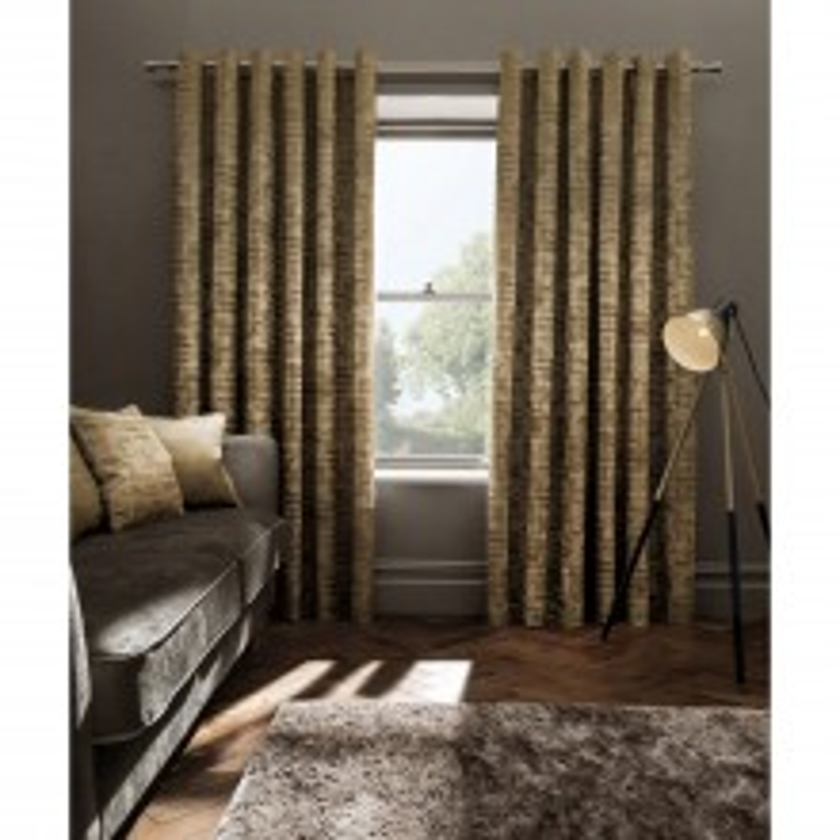 Studio G Naples Curtains, 117x229cm, Gold
