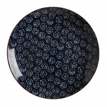 Maxwell & Williams Boho Plate Shibori Navy 27cm