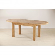 Casa Seville Large D End Extending Dining Table, Oak