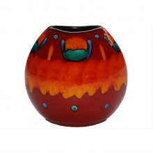 Poole Pottery 20cm Volcano Purse Vase