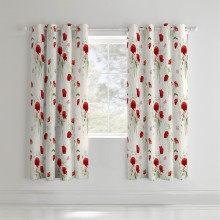 Catherine Lansfield Stag Curtain, 168cm x 183cm, Beige