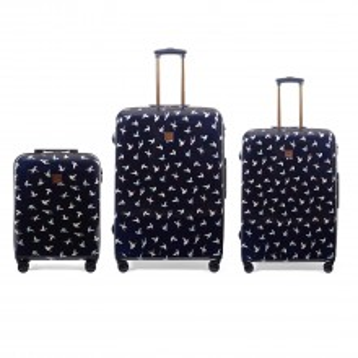 Oasis Hummingbird 3 Piece Suitcase Set, Navy