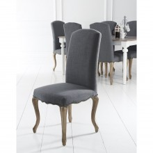 Casa Pair Of Luxury Studded Carved Leg Dining Chair