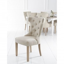 Casa Pair of Winged Button Metal Ring Dining Chair