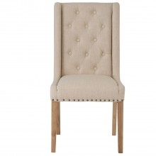 Casa Pair Of Winged Button Studded Chairs