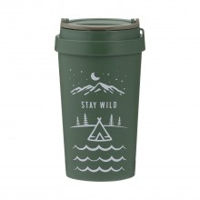 Typhoon Pure, Stay Wild Travel Mug, Green
