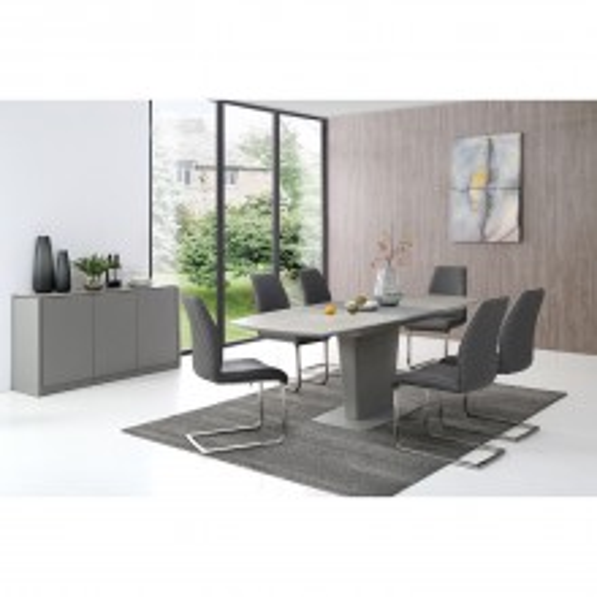 Casa Bari Extending Table & 6 Chairs Dining Set