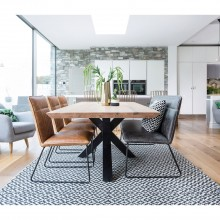 Casa Brixton Table, Bench + 3 Chairs