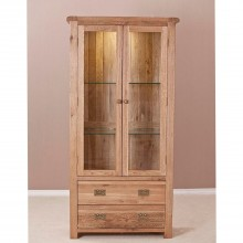 Casa Seville Glass Display Cabinet, Oak