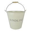 Manor Kindling Bucket, Cream