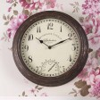 Smart Garden Bickerton Clock & Thermometer, Brown