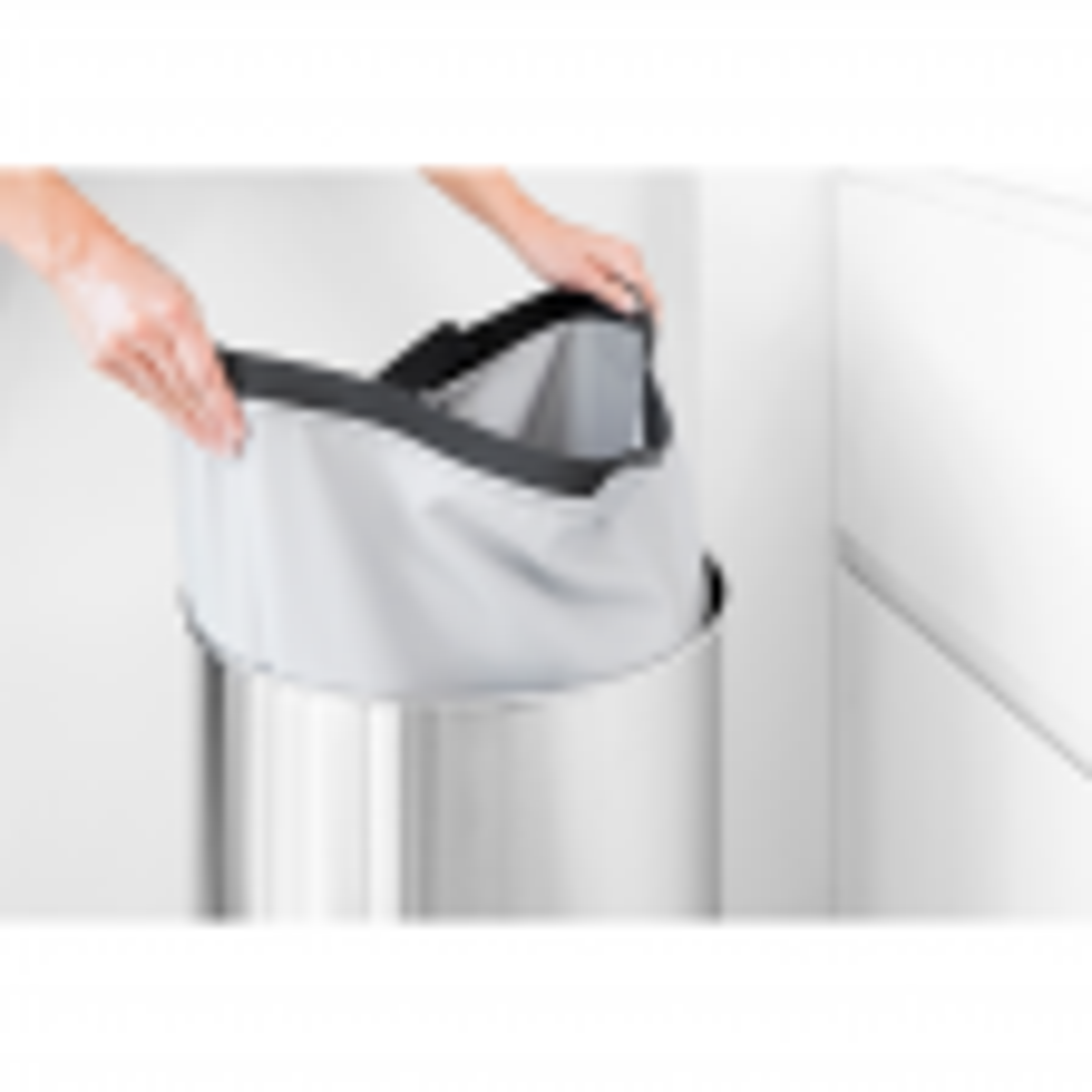 Brabantia Laundry Bin 60l, Matt Steel
