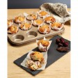 Kitchencraft Paul Hollywood 12 Hole Deep Baking Pan Non Stick