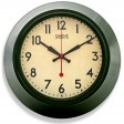 Brookpace Lascelles Green Metal Wall Clock, Green