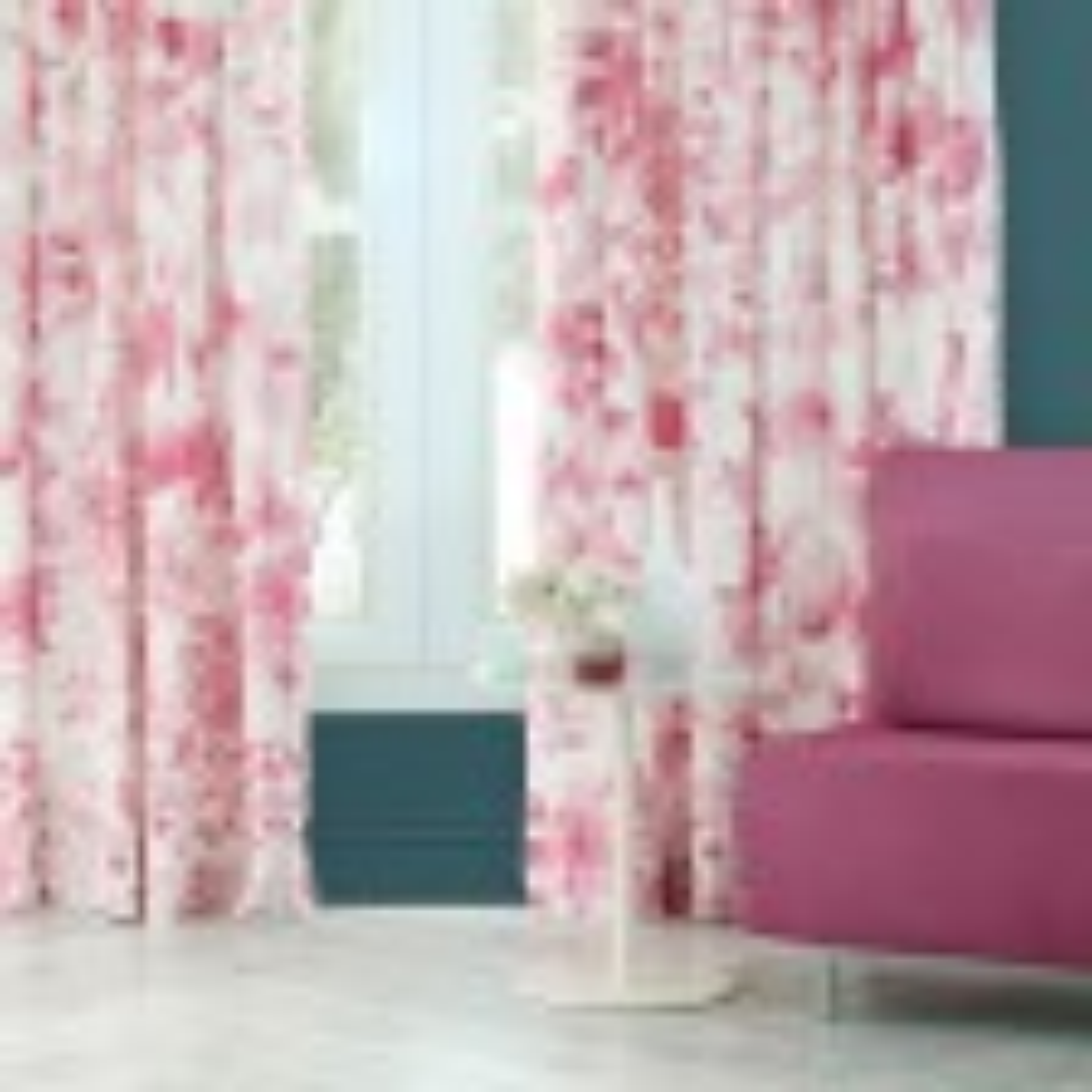 Bluebellgray Frankie Meadow Curtains 167x137cm, White