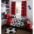 Catherine Lansfield Football Duvet Set, Double, Red