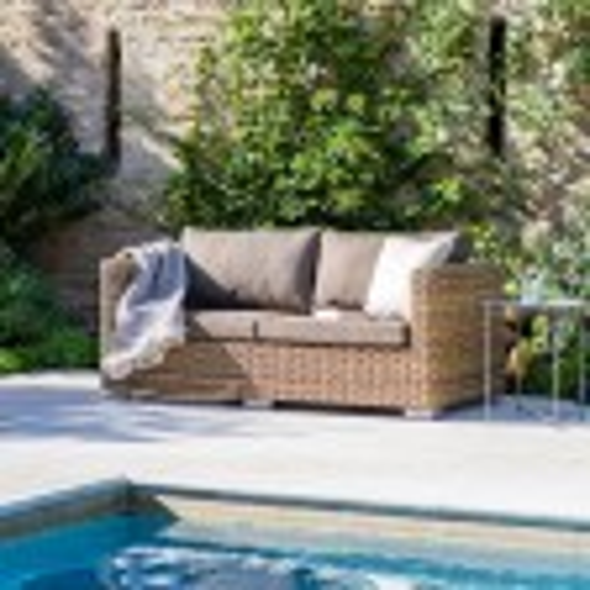 Garden Trading Marden Sofa, Brown/Rattan