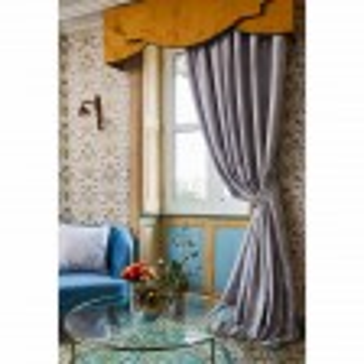 The Châteaus By Angel Strawbridge Deco Heron Tape Curtain, 168cm x 229cm, Grey