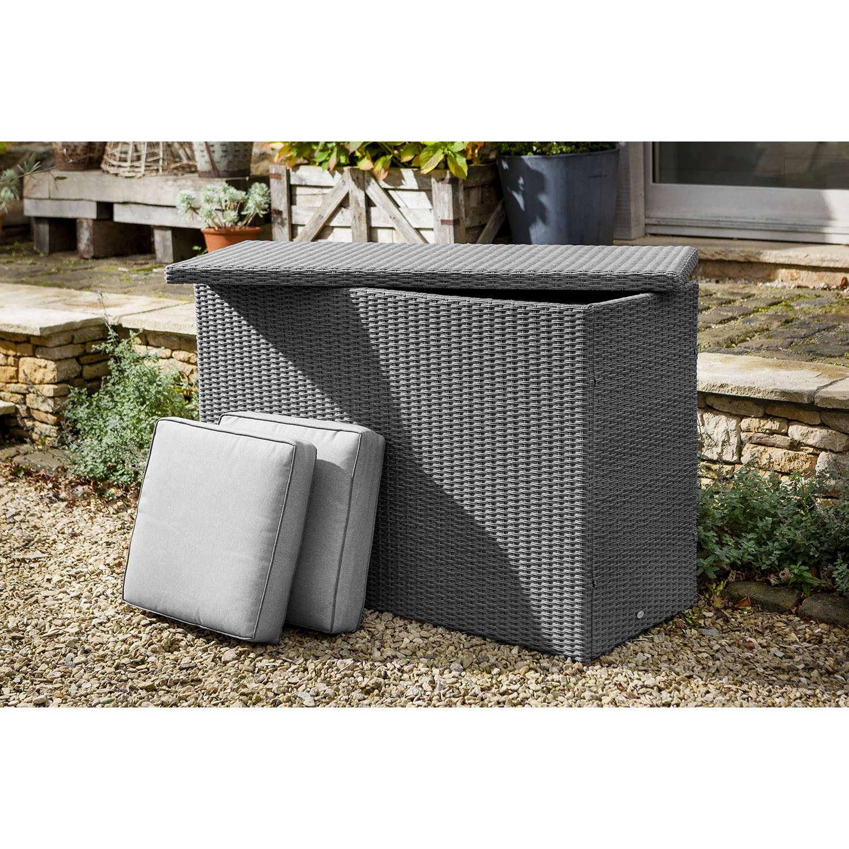 Hartman Casa Outdoor Cushion Storage Box, Large, Slate/Stone