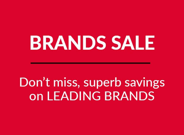 Brands sale - Don't miss, superb savings on leading brands