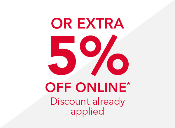 extra 5 off online