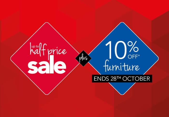 Leekes Up To Half Price Sale Plus 10% Off Furniture