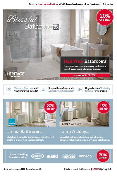 Bathroom Spring Sale 2016 Brochure