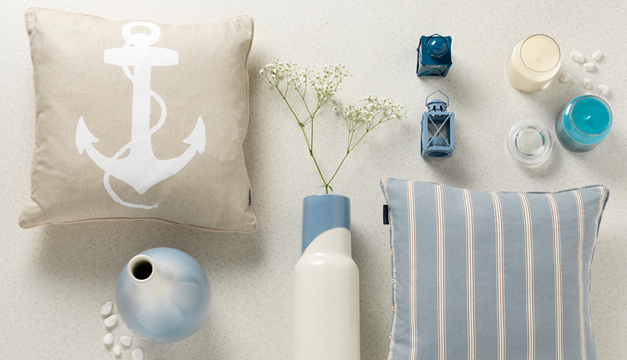 Create a seaside retreat with coastal hints