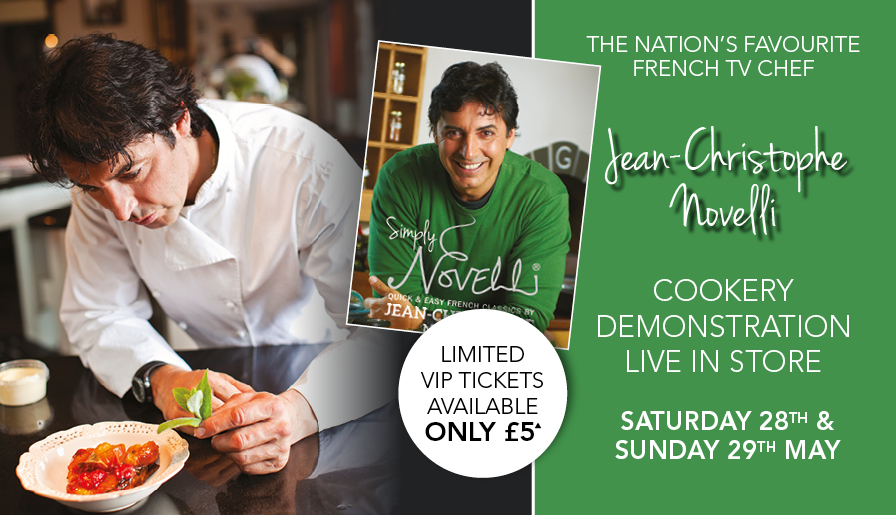 TV Star Jean-Christophe Novelli Set To Cook Up A Treat At Leekes