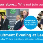 Recruitment Evening at Leekes Coventry