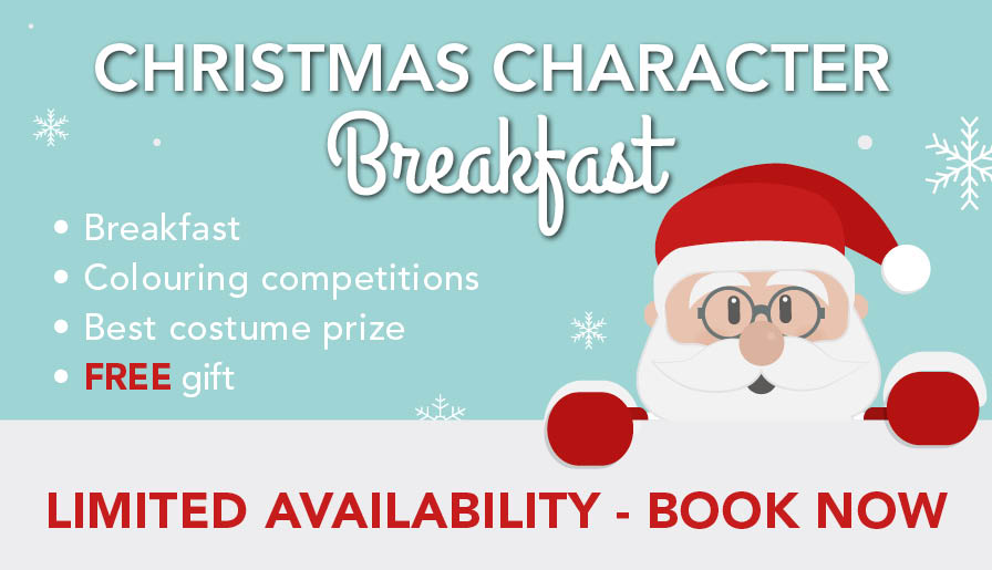 christmas character breakfast at leekes