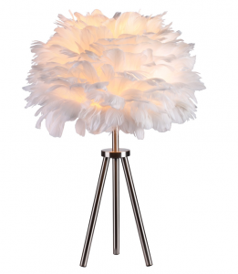 Heron Feather Table Lamp